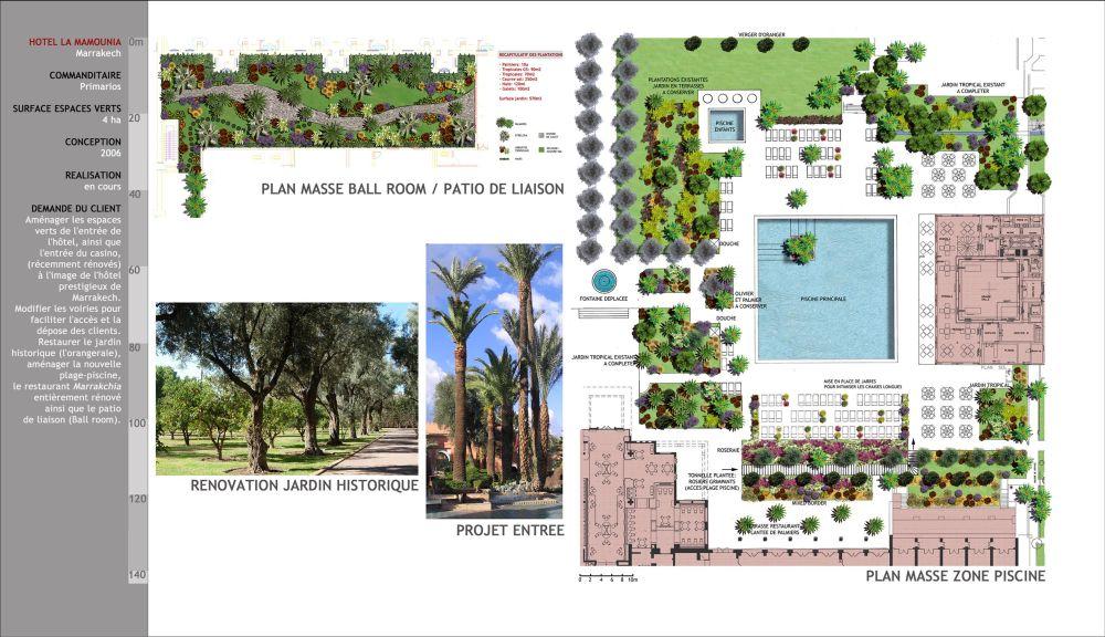 Aglia concept concepteur paysagiste projet la mamounia for Concepteur paysagiste