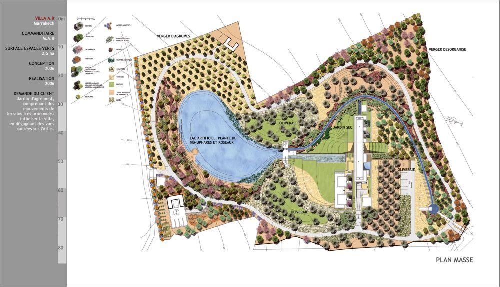 Aglia concept concepteur paysagiste projet villa a r for Concepteur paysagiste